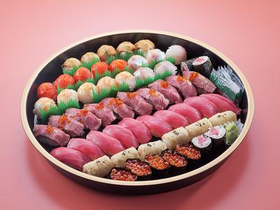 正月寿司盛合わせ ローストビーフ寿し